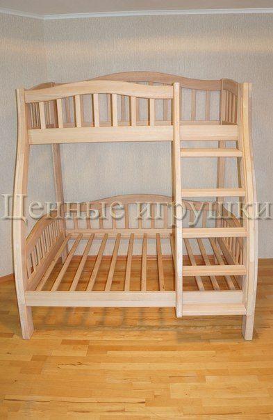 Детская двухъярусная кровать из массива бука https://vk.com/cennie_igrushki