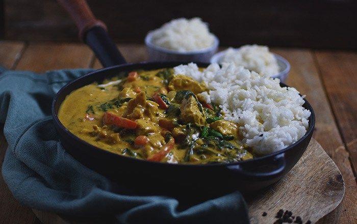 Chicken-Spinat-Curry: Soulfood leicht gemacht