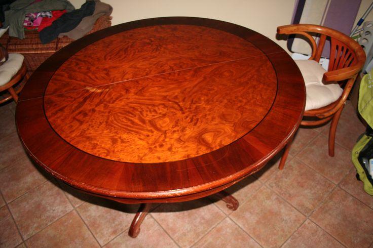 stół okrągły, rozkładany (115 - 155 cm)