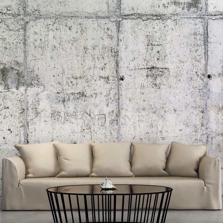 Die besten 25+ Tapete betonoptik Ideen auf Pinterest Tapeten - graue tapete wohnzimmer