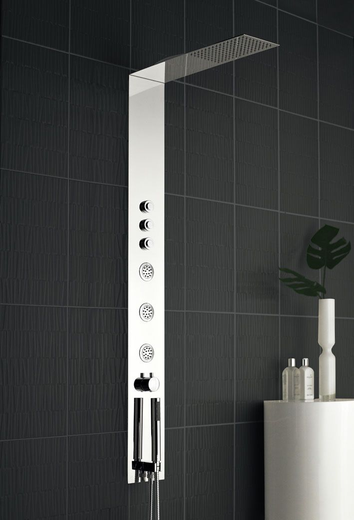 The Guise Shower Panel Is Fully Recessed For A Sleek