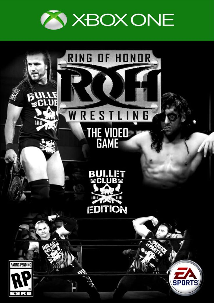 This is the cover you get if you pre-order the special bullet club edition of the ROH video game to get Kenny Omega as a playable character and a signature from all members of the Bullet Club! #Too...