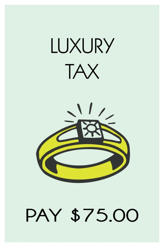 Monopoly Themed Luxury Tax 18 X 24 Poster Prints Any