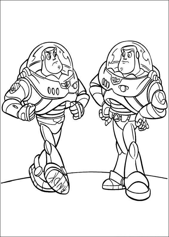 buzz lightyear vs buzz lightyear free printable coloring page - Buzz Lightyear Coloring Pages Free