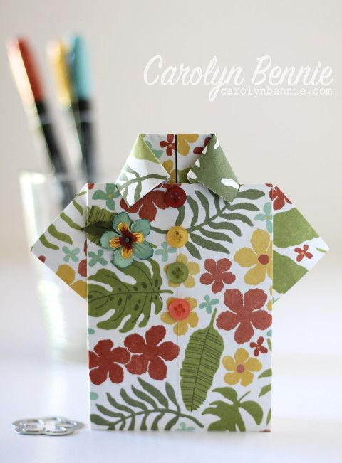 I've got a fab Photo Tutorial for this Tropical Shirt Card. Blokes cards can be so boring but there just isn't anything boring about this Stampin' Up! bright, happy and FUN Tropical Shirt Card. Perfect for the wonderful man in your life! Head to carolynbennie.com for the full tutorial.
