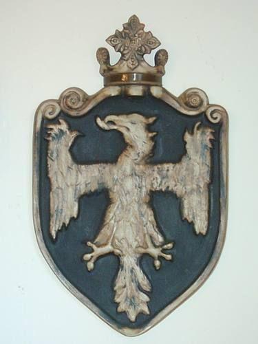 Gran Escudo Nobiliario Con Águila, Para Fachada O Interior
