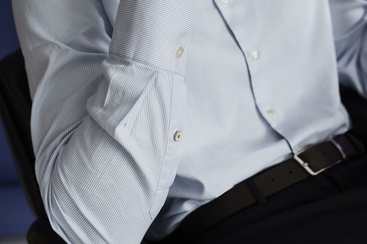 Details are what makes www.Koikebarcelona.com a different shirt maker, an exclusive enameled button strategically located in a cuff. No logo, but a simple personal touch. #gentsfashion #gentstyle  #menswear