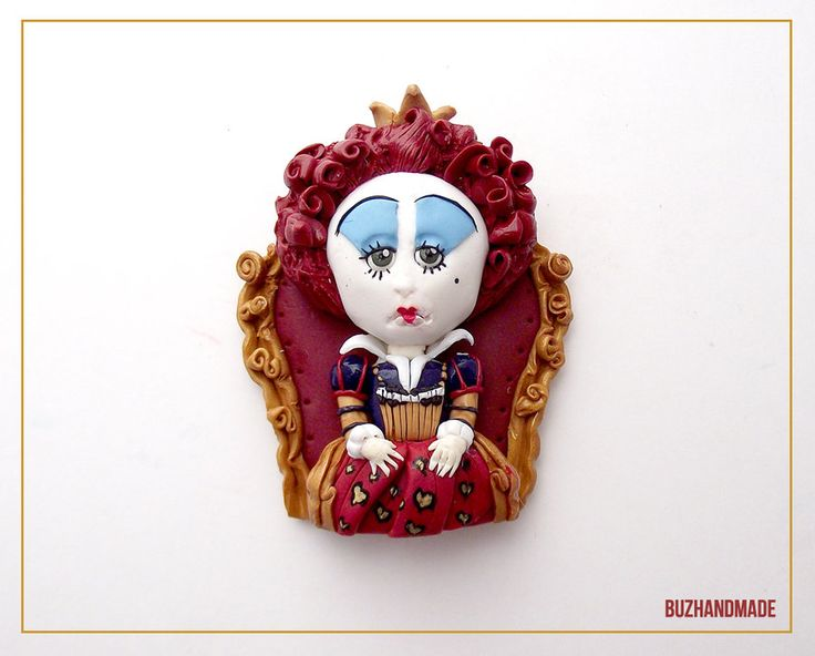 Red Queen Clay Charm by buzhandmade.deviantart.com on @deviantART