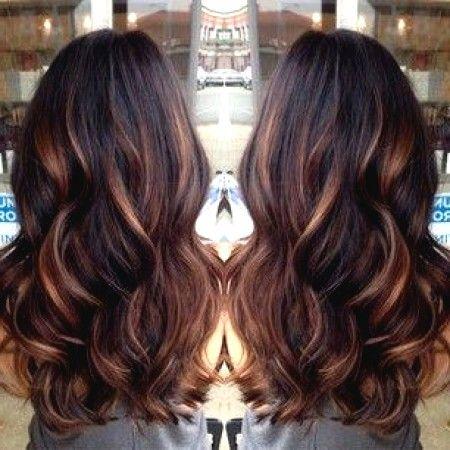 Cherry Lowlights Braune Haare Mit Karamell Straehnchen 1 Haare