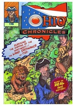 This comic book about Ohio history is perfect for 4th grade or 5th grade students interested in the Land Ordinance of 1785. It features a story about the mapping of the Northwest Territory, a non-fiction comic about the naming of Ohio's districts and Primary source material--the actual Land Ordinance of 1785 text.