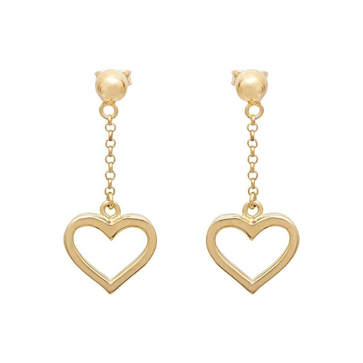 ANNIE HAAK Saba Heart Silver Stud Earrings, Stunning Heart Shaped 7mm Sterling Silver Earrings with Pouch and Gift Box