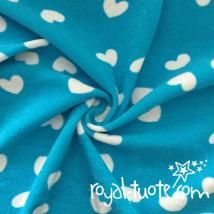 Joustofrotee Rakkaus turkoosi - Stretch terry Love - Turquoise