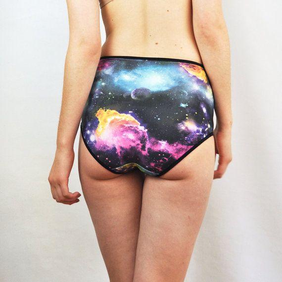 Space print big knickers lingerie underwear by knickerocker, $23.00