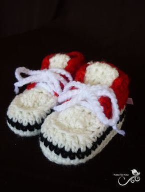 Crocheted Baby Sneakers - Free Pattern