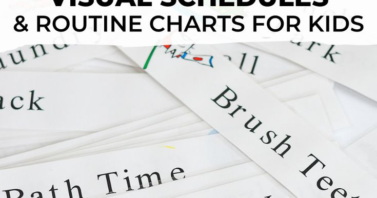Visual Schedules & Routine Charts for Kids in 2020