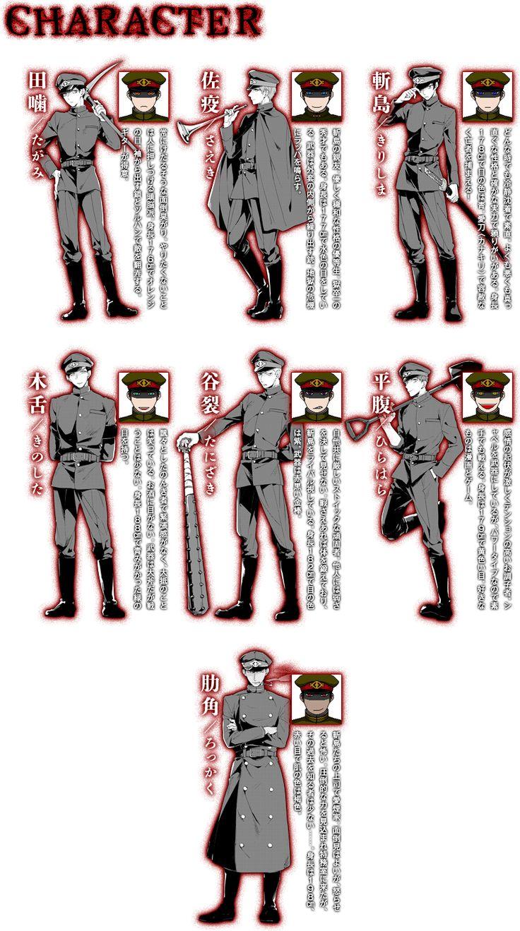underworld capital incident | Underworld Capital Incident Characters Chart.