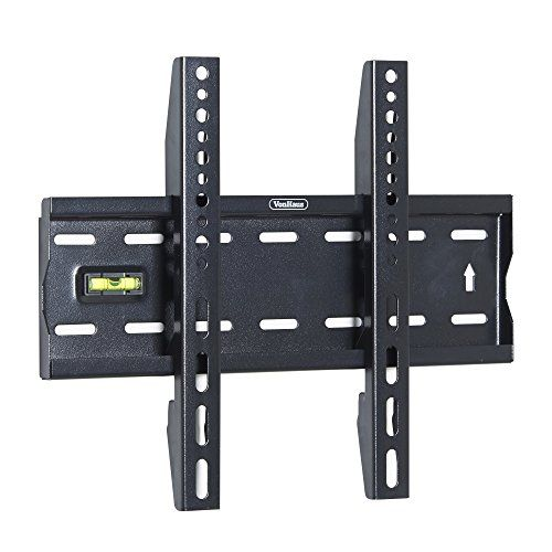 """VonHaus Ultra Slim TV Wall Mount for 15-42 inch LCD LED 3D Plasma TVs Super Strong 88lbs Weight Capacity - This Ultra Slim wall mounted bracket is one of the slimmest TV brackets available, designed to fit flat screen LED, LCD and Plasma style TV's between 15"""" to 42"""". The bracket is a universal model and designed to fit all of the major manufacturer models. Ultra Low Profile: measuring only 27mm from ..."""