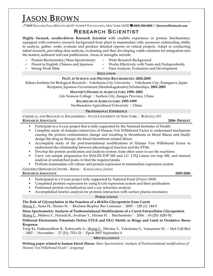 sample research resume cover letter example paper curriculum vitae preparation application and