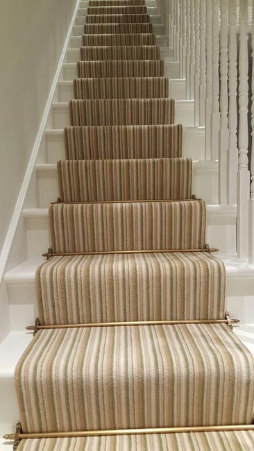 Striped Carpet Runner to Stairs