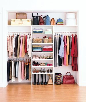 How to maximize your closet space light colors for Maximize small closet