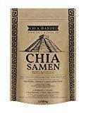 Chia Samen - Geprüfte Qualität zum fairen Preis - SuperFood, Low Carb, Vegan, Vegetarisch, Glutenfrei, Vitamine, Ohne Gentechnik, Für Diabetiker geeignet, Ideal für Smoothies, 100% Chia Samen