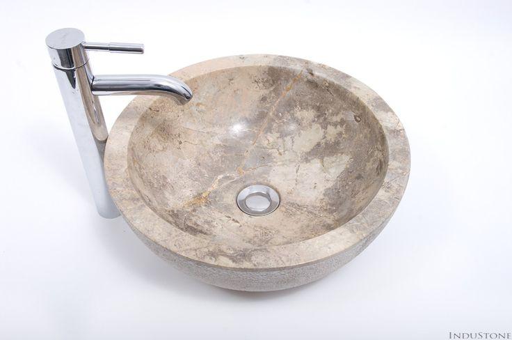 KC-D BROWN C 40 cm kamienna umywalka nablatowa INDUSTONE - InduStone