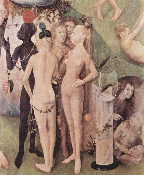 Bosch, Hieronymus: Der Garten der Lüste, Mitteltafel: Der Garten der Lüste, Detail