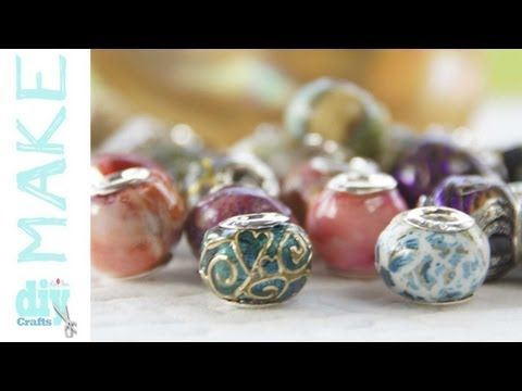 How to create Pandora style european beads in Friendly Plastic.