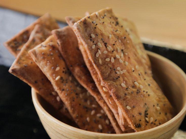 Homemade Herbed Crackers recipe from Trisha Yearwood via Food Network