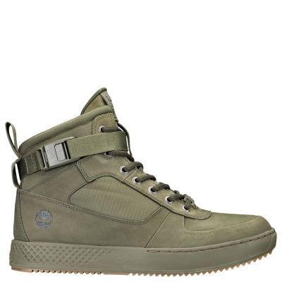 free shipping 4b61a 6d17e Timberland Men s CityRoam Cupsole High-Top Sneakers Olive Green  Nubuck Canvas