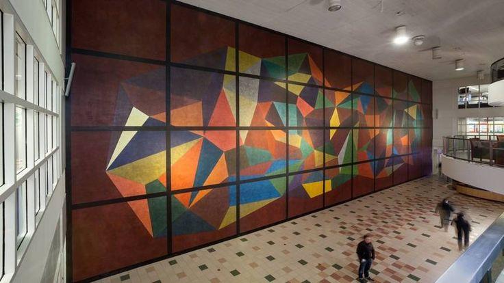 Groot kunstwerk van Sol LeWitt overgeverfd | NOS