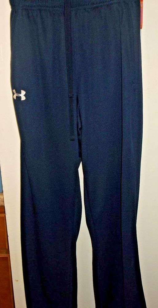 Women's Under Armour athletic Gym Yoga Blue pants Polyester Size Small Petite   #UnderArmour #PantsTightsLeggings