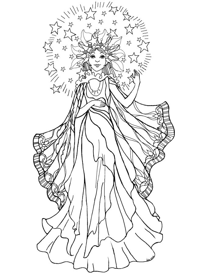 Angel coloring pages for adults angel coloring pages97 png