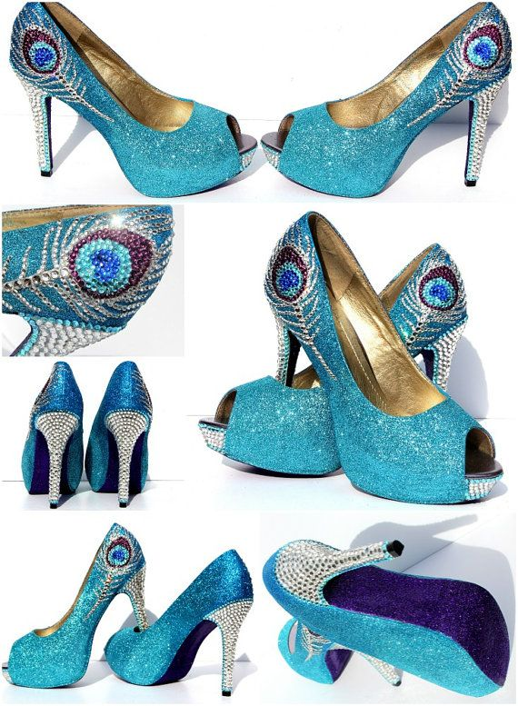 Peacock colored dress shoes