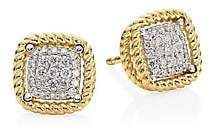 Roberto Coin Barocco 18K Yellow Gold & Diamond Earrings