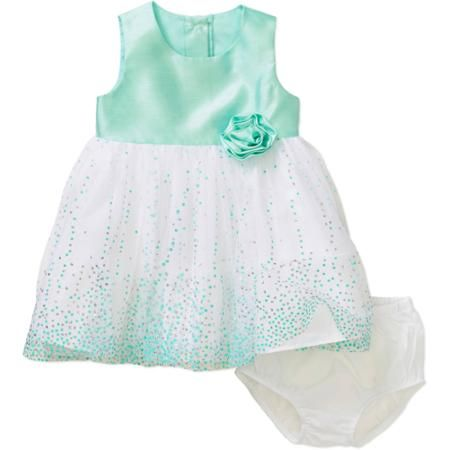 7595551aaadea George Newborn Baby Girl Easter or Special Occasion Mint Dress - Walmart.com    Girl Munchkin ♥   Dresses, Mint dress, Baby dress