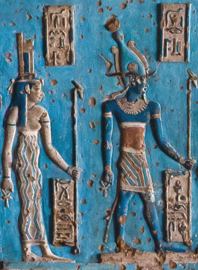 ♡ Isis and Osiris~I give thanks for the mystic vision I 'received' of beautiful Isis and Osiris, when I visited Karnak, Egypt in 1976. This archetypal, divine couple 'awakened' me, and set me on my 'alchemical processing path' towards Sacred Union...Pure Gold!..The journey into Wholeness/Holiness. Feeling blessed ♡