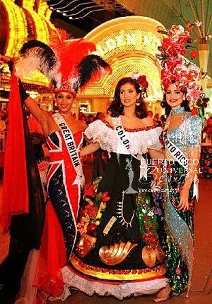 Miss Universe Puerto Rico 1996, Sarybel Velilla. Traje alusivo al bosque nacional El Yunque. #MissUniverse #NationalCostume #SarybelVelilla #MissPuertoRico #MissUniverse1996