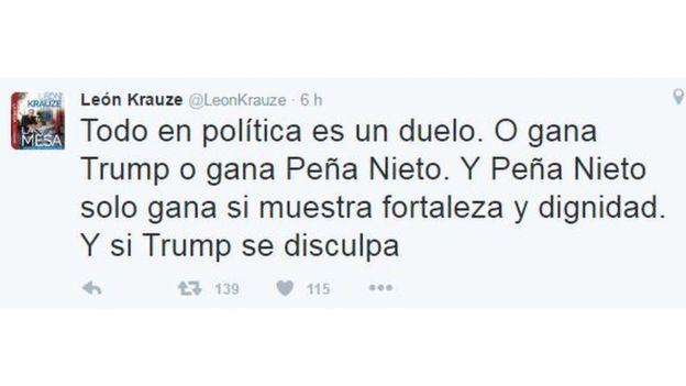 Tuit de León Krauze