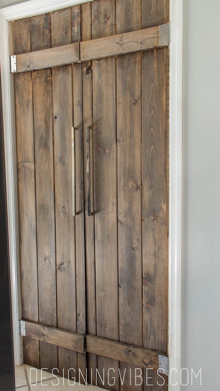 Double Pantry Barn Door Diy Under 90 Bifold Pantry Door