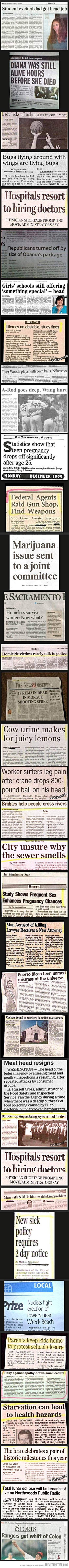 When newspaper headings reach a new low…