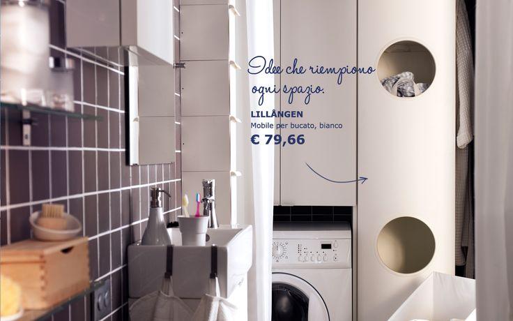 Ikea lillangen laundry cabinet hamper sorter dawn for Small bathroom hamper