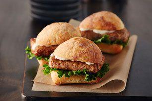 Mini burgers au poulet César #recette