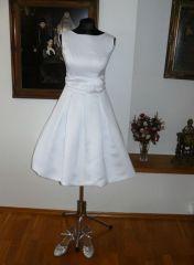 retro krátké svatební šaty hepburn 50´s 60´s - plesové šaty, svatební šaty, společenský salón