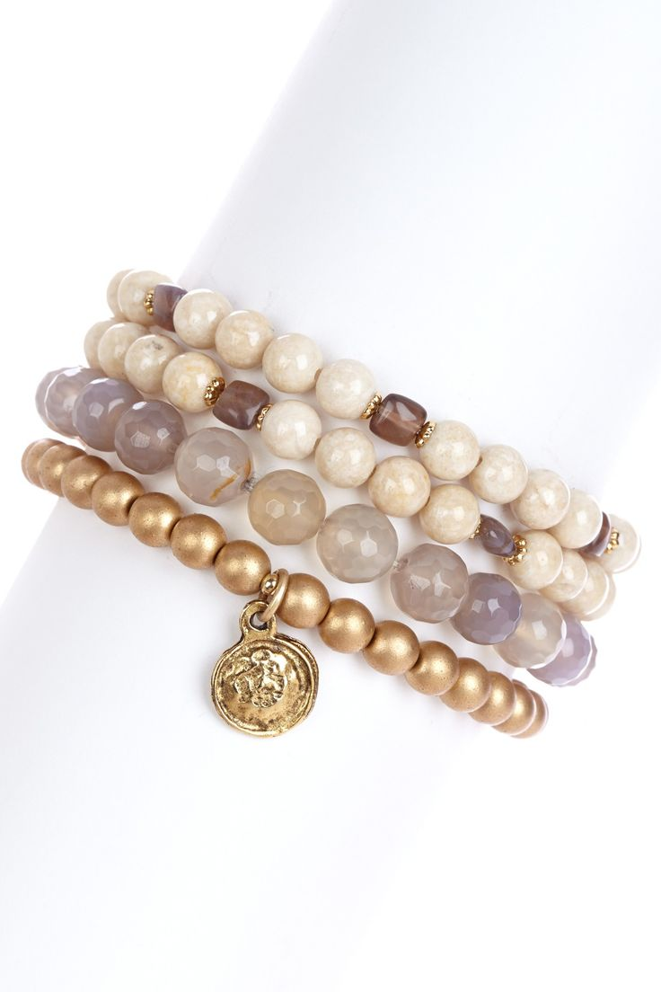 Multicolor Beaded Stretch Bracelet Set