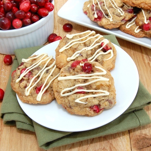 Triple-Chocolate-Cranberry-Pecan-Oatmeal Cookies