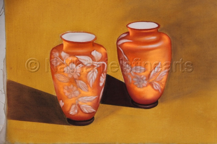 "Contemporary Drawing - ""The Cameo Vases"" (Original Art from Nathaniel Brown)"