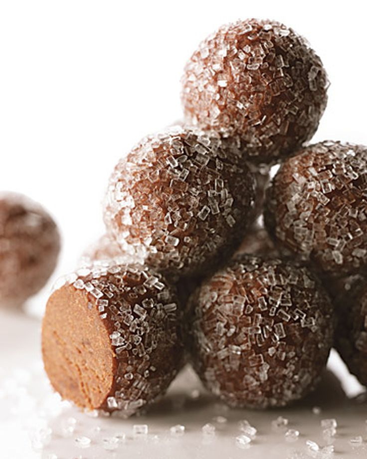 These rum-infused brownie balls are perfectly-sized treats for adults.