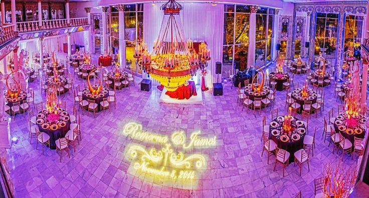 luxury table decor and setup for wedding | Florida Indian Wedding | Cesar Chavez Photos