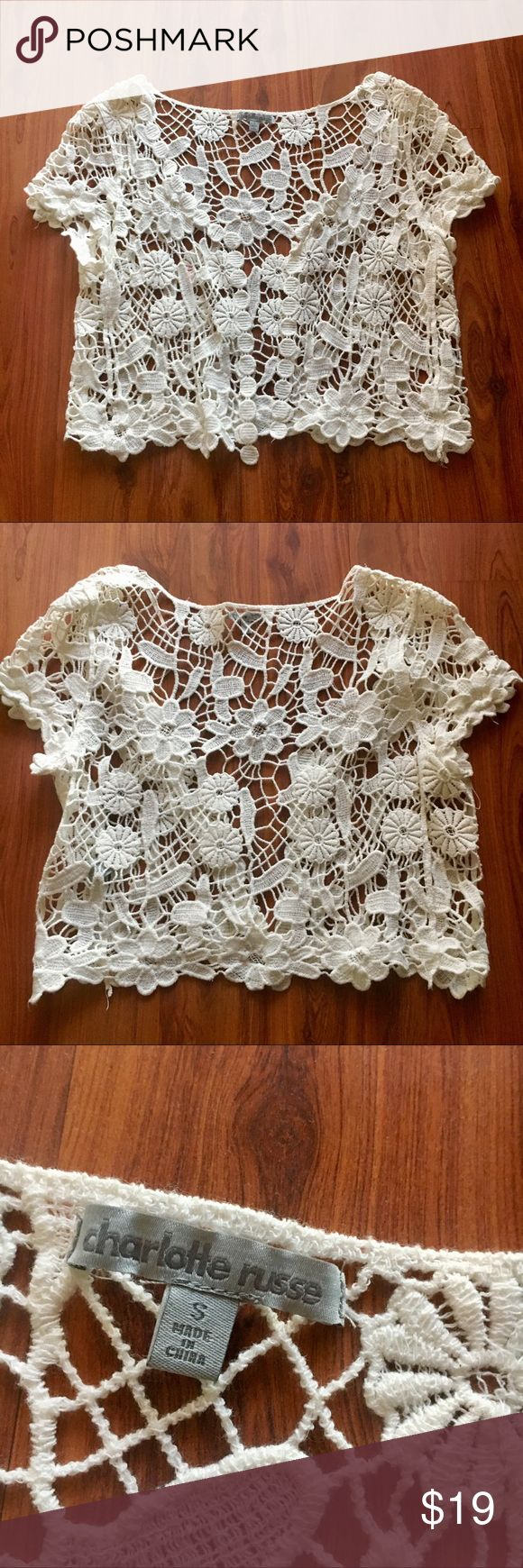 Charlotte Russe Crotchet Jacket ✌🏻 This Charlotte Russe crochet jacket is in perfect condition has only been worn once!  Perfect for year-round or for festivals!! ✌🏻  From a smoke free pet free home 🏡 Charlotte Russe Jackets & Coats Vests